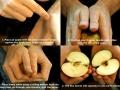 How to break an apple