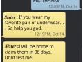 I won't wear them