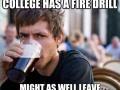 College fire drill
