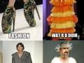 Watching a fashion show