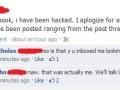 His facebook was hacked