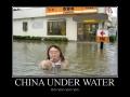 China under water