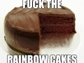 Enough of rainbow cakes!