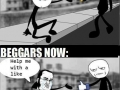 Beggars now & then