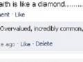 Faith is like a diamond
