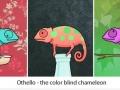 Colour blind chameleon