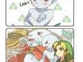 Link being a mute boy