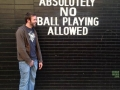 No ball playing