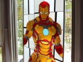 Iron Man Stained Window