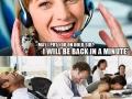 In a help desk office
