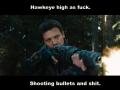 Hawkeye ran outta arrows