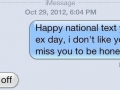 Text your ex day