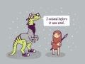 Hipster dinosaur