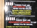 Difficult Things To Say When Drunk
