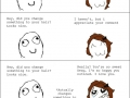 Complimenting a girl's hair