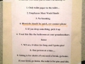 Rules of the bathroom