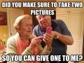 Grandma asking for pics