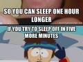 Scumbag Alarm Clock