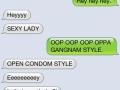 How my friend says hey