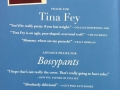 Back cover of Tina Fey's book