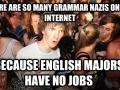 Feel sorry for English majors