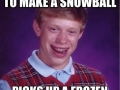 Happened in a snow fight