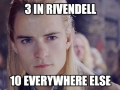 As an elf in Middle Earth