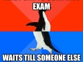 I never leave the exam first