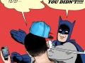 Batman slaps douche