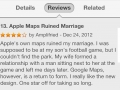Apple Maps ruined marriage