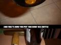 Euro in a bottle trick