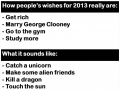 Wishes for 2013