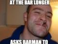 Good bar etiquette