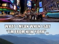 I'm from New York