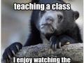 As a teacher