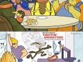 Cartoons in college