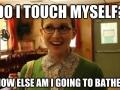 Do I touch myself?