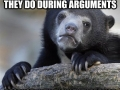 Woman in arguments