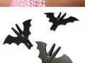 Bat peg clips for fancy caves