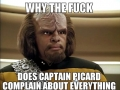 Annoyed with Picard