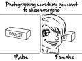 Males & females taking pics