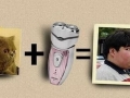 Cat + razor = kid