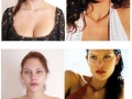 Models without make-up