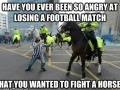 Football fans in England