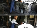 Being a blacksmith