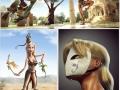 Heroes in Pixar style