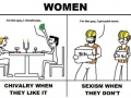 Chivalry Vs. Sexism