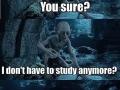 When exam week is over
