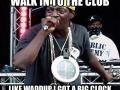 Walk into the club