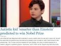 Kid smarter than Einstein